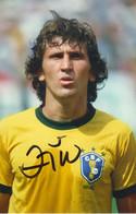 Zico - Brasilien Wm 1982 - Original Autogramm, Autografo, Autographe  - 15x10 Cm - Autógrafos