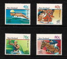 New Zealand 1988 Seoul Olympics - Health Set Of 4 MNH - Ongebruikt