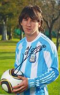 Leo Messi - Argentinien WM 2006 - 2018 -  Original Autogramm, Autografo, Autographe  - 15x10 Cm - Autógrafos
