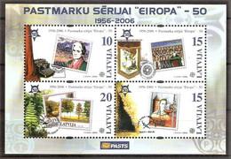 Lettland Block 21 ** (Mi.Nr. 656-659) 50 Jahre Europamarken CEPT 2006 - Lettland