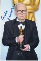 Ennio Morricone (†2020) Oscar Winner - Western- -  Original Autogramm Auf Foto 15x10  , Autografo, Autographe - Autógrafos