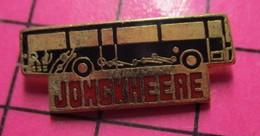 SP04 Pin's Pins / Beau Et Rare / THEME : TRANSPORTS /  AUTOBUS ROUTIER NOIR JONGKHEERE - Transportation