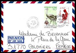 TCHAD - 1987 - MÈRE / ENFANT - AUTRUCHE - Chad (1960-...)