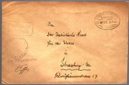 BAHNPOST - 1941 - SAVERNE / MOLSHEIM POUR STRASBOURG - Alsace Lorraine