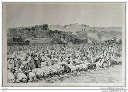 Ramadan En Algérie - Ramadan In Algerien - Dessin De Haenen - Old Print - Alter Druck 1896 - Historical Documents