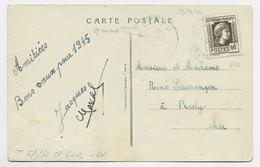 MARIANNE ALGER 60C N°634 SEUL CARTE 5 MOTS SEVRES 29.12.1944 AU TARIF RARE - 1944 Gallo E Marianna Di Algeri