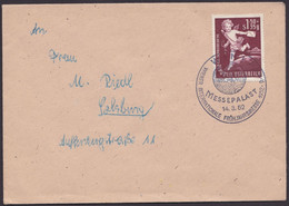 """MiNr. 972 """"Tag Der Briefmarke"""", 1952, Brief Mit Pass. Sst """"Wien"""" - 1945-60 Briefe U. Dokumente"""