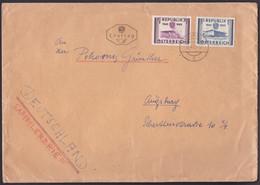 """MiNr. 1012/3 """"10 Jahre Unabhängigkeit"""", Bedarfs-FDC Nach Deutschland - 1945-60 Briefe U. Dokumente"""