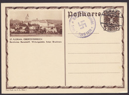 "P 300 ""St.Florian"", Propaganda-Stempel ""Der Führer Spricht, Graz"", 3.4.38 - Ganzsachen"