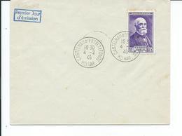 N° YT 749 Henri Becquerel Sur Lettre 1er Jour Cachet Castelnau Estretefonds Hte Garonne 1946 Sans Destinataire - Covers & Documents