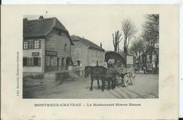 MONTREUX -CHATEAU - Le Restaurant Simon HAUSS ( Attelage ) - Autres Communes