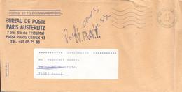 BUREAU DE POSTE PARIS AUSTERLITZ BD HOPITAL (13e) OMec SECAP FG 5.L.O. W Du 23-5-1991 – N.P.A.I. Lettres 10 Mm - Documents Of Postal Services