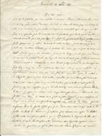 LETTRE MANUSCRITE DE 2 PAGES D'UNE FILLE A SA MERE / TOULOUSE 1852 - Manuscripts