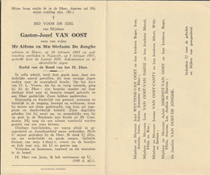 Huise, Nazareth, Gaston Van Oost, De Jionghe, Weytens, Van Daele, Canty - Devotieprenten