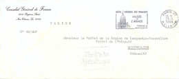 CONSULAT GÉNÉRAL DE FRANCE NEW ORLEANS  - VALISE – Cachet MINISTÈRE DES AFFAIRES ÉTRANGÈRES Pour L'HERAULT Du 25-1-1966 - 1961-....