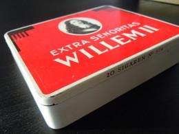 Willem II Senoritas Holland Boîte En Metal Pour Cigares Blikken Doos Voor 20 Sigaren 574 Grote Druk 12,5 X 11, X 2,4 - Scatola Di Sigari (vuote)