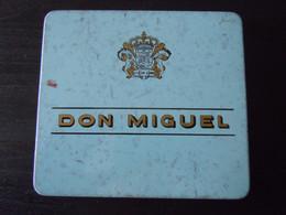 Don Miguel Intasa Las Palmas 10 Miguelos Boîte En Metal Pour Cigares Blikken Doos Voor Sigaren 11,7 X 10,7 X 1,2 Cm - Scatola Di Sigari (vuote)