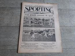 Sporting Journal Sportif Illustré 1923  Cross Country Rugby Automobile Cyclisme Premier Pas Dunlop - Sport