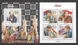 ST532 2015 SIERRA LEONE GAMES CHESS 1KB+1BL MNH - Chess