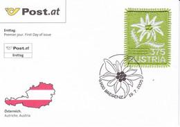 ÖSTERREICH, Mi 2538 Jaar 2005, Op FDC, Edelweiss (Embroidery) - FDC