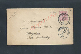 AUTRICHE LETTRE SUR TIMBRE DE 1889 OB TUBINGEN POUR OB NEUENBURG ALLEMAGNE : - Briefe U. Dokumente