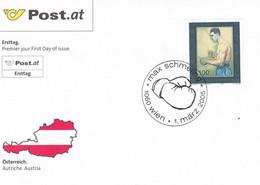 ÖSTERREICH Austria FDC BOXING MAX Schmeling 1-3-2005 - FDC