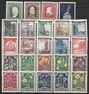 Autriche N° 694 - 696, 712 - 721, 722 - 731 * - 1945-60 Ungebraucht