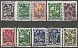 Autriche N° 722 - 731 ** Fleurs - 1945-60 Ungebraucht