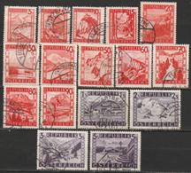 Autriche N° 697 - 711 - 1945-60 Gebraucht