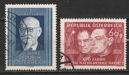 Autriche N° 763, 764 - 1945-60 Gebraucht