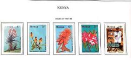 A) 1987, KENYA, MEDICINAL PLANTS: ALOE VOLKENSII, CASIA, ERYTHRINA ABYSSINICA, ROSA DEL DESIERTO, BOTICARY AT THE PHARMA - Kenia (1963-...)