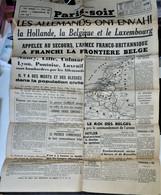 Rare Journal 100 % D'origine Paris-soir Du 11 Mai 1940 - 1939-45
