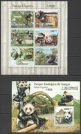 BC668 2011 GUINE GUINEA-BISSAU FAUNA WILD ANIMALS BEIJING ZOO GIANT PANDA BL+KB MNH - Ours