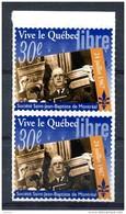 Thème Général De Gaulle - Paire De Vignette 30e Anniversaire Visite Au Québec - T 470 - De Gaulle (General)