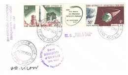 TAAF TERRE ADELIE 02 03 1966  SIGNEE PE VICTOR 1ER JOUR PA 11A - Cartas