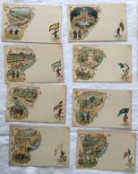 Lot De 8 Cartes -exposition De 1900-Paris-714 - Exposiciones