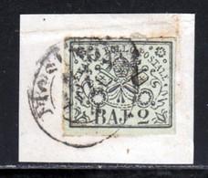 Etats Pontificaux 1852 Yvert 3A (o) B Oblitere(s) Frosinone - Papal States