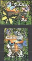 BC608 2011 GUINE GUINEA-BISSAU FLORA & FAUNA BUTTERFLIES BORBOLETAS KB+BL MNH - Butterflies