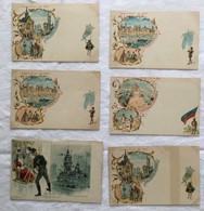 Lot De 6 Cartes -Paris Exposition De 1900-716 - Exposiciones