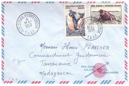 TAAF ST PAUL AMSTERDAM  08 05 1956 AVEC N° 3 7 - Cartas
