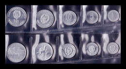 Corea Del Norte Set 5 Monedas 1 5 10 50 100 Won 1959 -1987 SC UNC - Korea (Noord)
