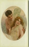 MONESTIER SIGNED 1910s POSTCARD - HALF NAKED / NU / NUDE COUPLE - EDIT ARS NOVA 404 (BG1265) - Monestier, C.