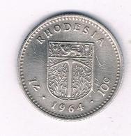 10 CENTS 1964 RHODESIE /3383/ - Rhodesia