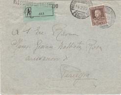 1929 Raccomandata Da Passignano Sul Trasimeno Per Perugia, Arrivo Al Retro - Marcofilía