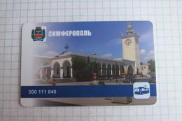 Crimea. Simferopol. Transport Card. - Russia