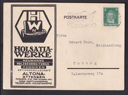 A37x /   Reklame Holsatia Holz Bearbeitung Altona Ottensen 1928 - Publicidad