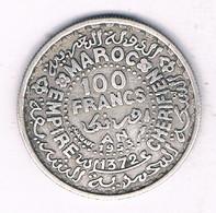 100 FRANCS 1953 MAROKKO /3390// - Morocco
