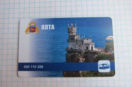 Crimea. Yalta. Transport Card. - Russia