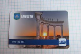 Crimea. Alushta. Transport Card. - Russia