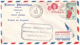 TAAF KERGUELEN 03 01 1955 - Cartas